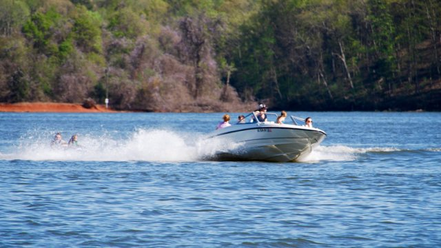 Boating on Lake Wylie
