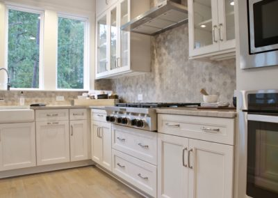 Gourmet kitchen in Peachtree Residential model home in South Shore