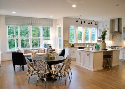 Breakfast area and kitchen in Peachtree Residential model home at South Shore