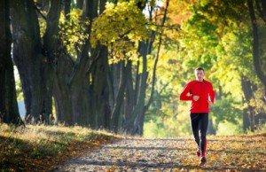 Runner on trail in McLean