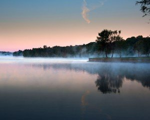 Lake Wylie dawn scene at South Shore in McLean