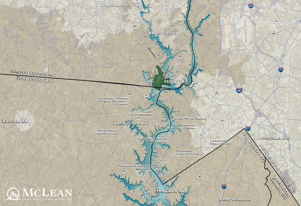 McLean map - Lake Wylie