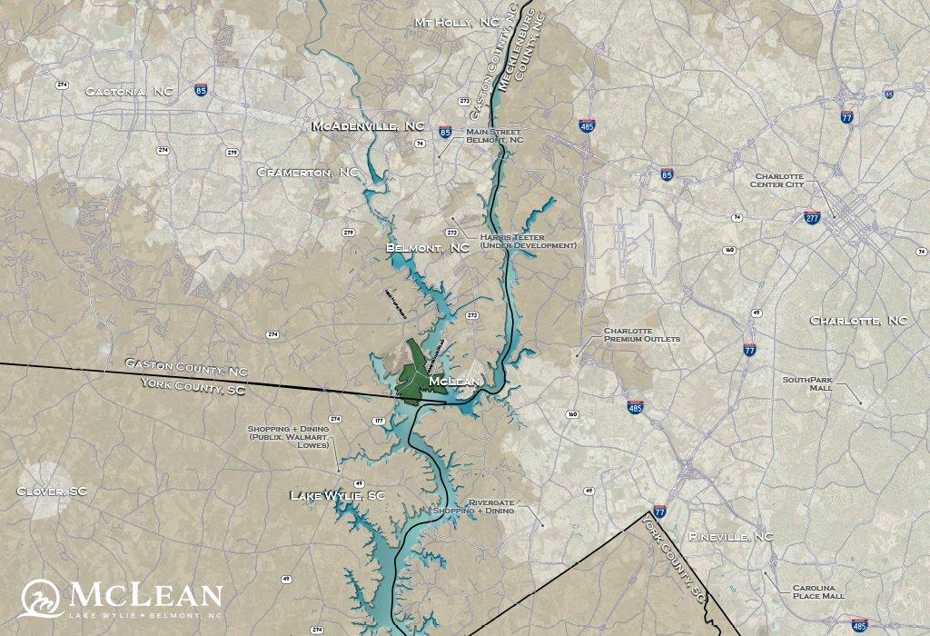 McLean map - Shopping