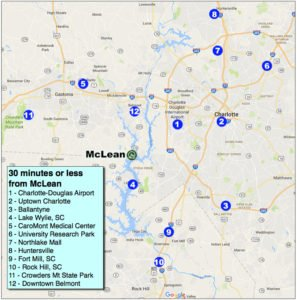 McLean drive-time map