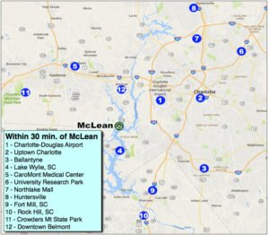 McLean drive-time map featured