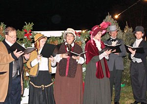 Carolers at Belmont Christmas Village