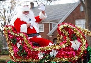 Santa at Belmont parade