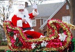 Santa at Belmont parade