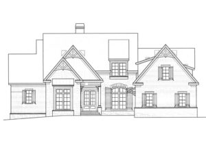 Lake Wylie custom lakefront homes - Lot 37 Elevation