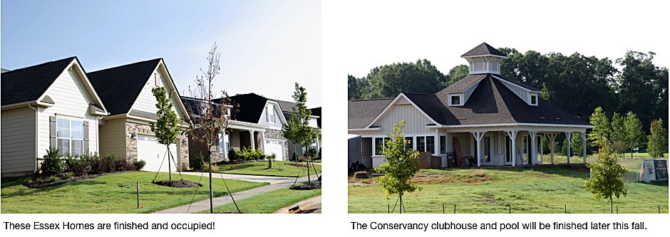 The Conservancy homes and clubhouse