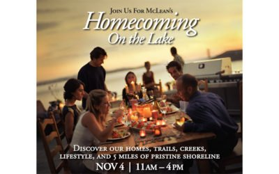 "McLean's ""Homecoming on the Lake"" to be held November 4th"