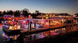 Christmas boat parade near McLean