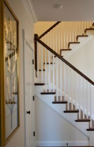 Stairway at Evans Coghill model in Overlake