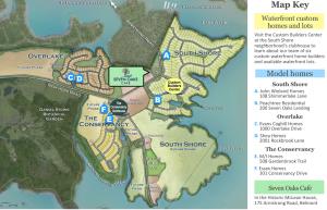 Builder model home map