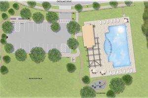 Overlake pool and playground