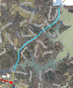Pole Branch Road map