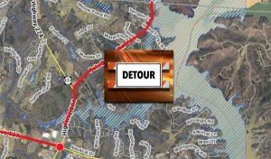 Pole Branch Road detour
