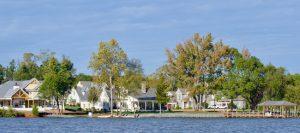 Waterfront custom homes at South Shore