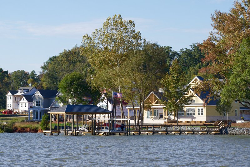 Waterfront custom homes at South Shore