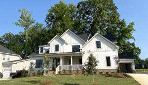 Peachtree Residential farmhouse-style model home at McLean